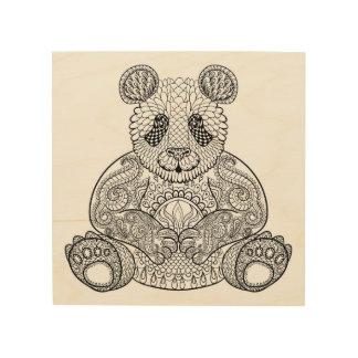Inspired Tribal Panda 5 Wood Print