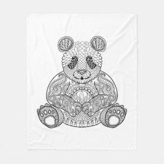 Inspired Tribal Panda Fleece Blanket