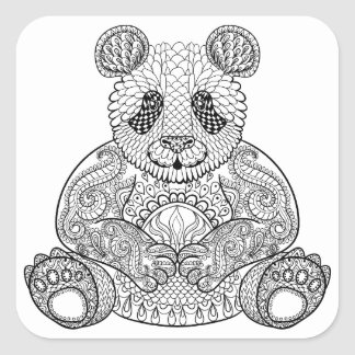Inspired Tribal Panda Square Sticker