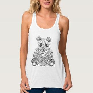 Inspired Tribal Panda Tank Top