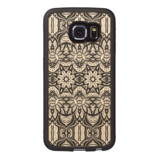 Inspired Tribal Style  Illustration Wood Phone Case