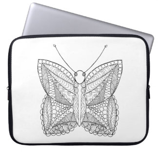 Inspired Tropical Design Butterfly Laptop Sleeve