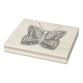 Inspired Tropical Design Butterfly Rubber Stamp