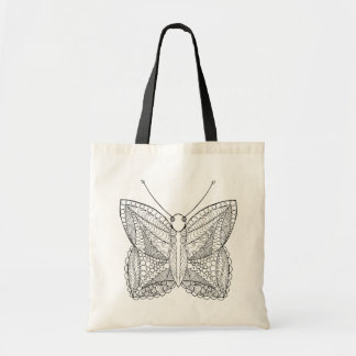 Inspired Tropical Design Butterfly Tote Bag