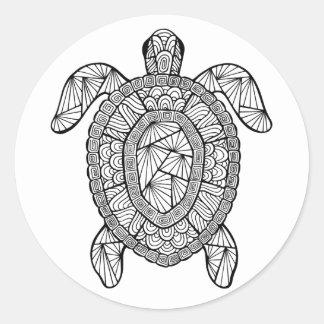 Inspired Turtle Classic Round Sticker