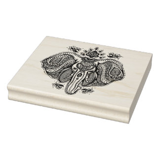 Inspired Vintage Indian Elephant Rubber Stamp