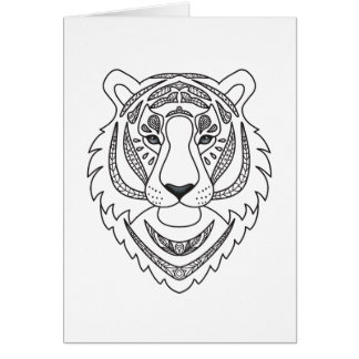 Inspired White Tiger Card