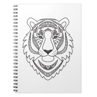 Inspired White Tiger Notebook