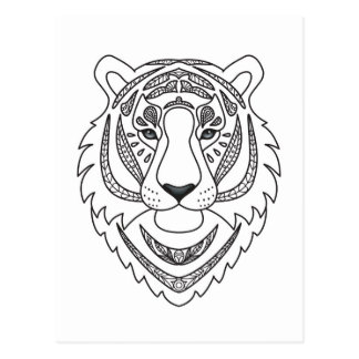 Inspired White Tiger Postcard