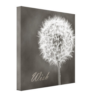 Inspired Wish Dandelion Canvas Print