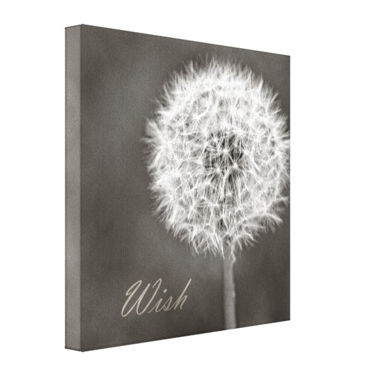 Inspired Wish Dandelion Canvas Print
