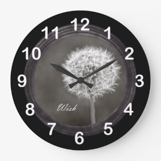 Inspired Wish Dandelion Large Clock