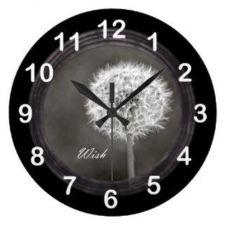 Inspired Wish Dandelion Wall Clocks