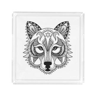 Inspired Wolf Acrylic Tray