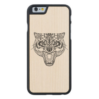 Inspired Wolf Carved Maple iPhone 6 Case