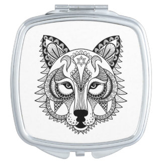 Inspired Wolf Compact Mirror
