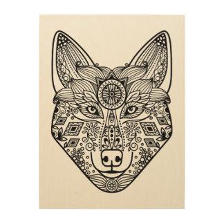 Inspired Wolf Head 5 Wood Wall Art