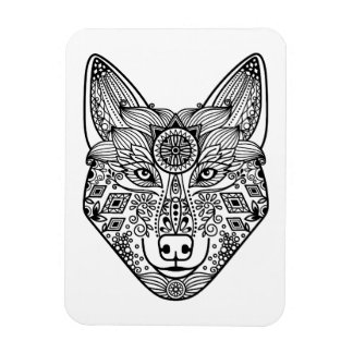 Inspired Wolf Head Magnet