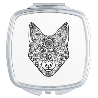 Inspired Wolf Head Makeup Mirror