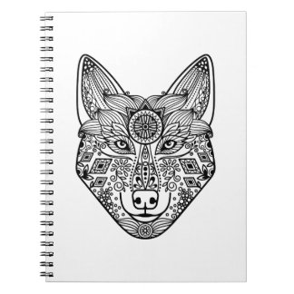 Inspired Wolf Head Notebooks
