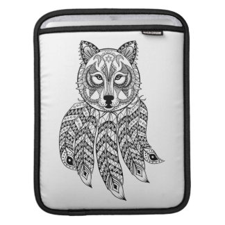 Inspired Wolf With Dreamcatcher iPad Sleeve