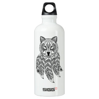 Inspired Wolf With Dreamcatcher Water Bottle