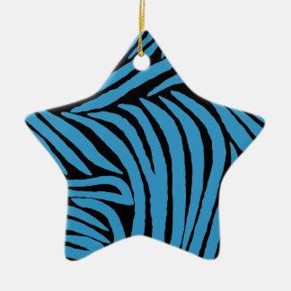 Inspired Zebra Print Ceramic Star Decoration