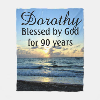 INSPIRING 90TH BIRTHDAY BLESSED BY GOD BLANKET