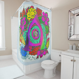 Inspiring A initial colorful floral simple pattern Shower Curtain