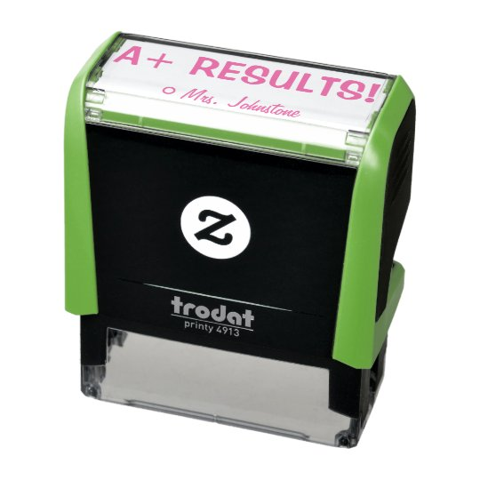 "Inspiring ""A+ RESULTS!"" Teacher Rubber Stamp"