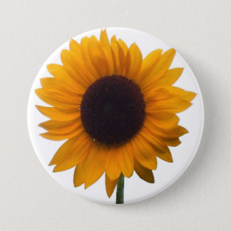 Inspiring Autumn Beauty Sunflower Singular Blossom 7.5 Cm Round Badge