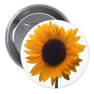 Inspiring Autumn Beauty Sunflower Singular Blossom 7.5 Cm Round Badge