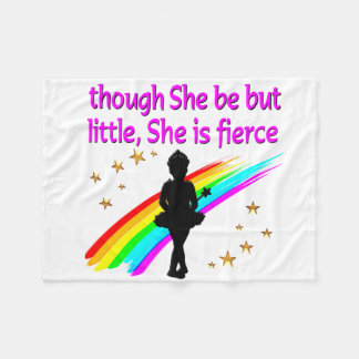 INSPIRING BALLERINA QUOTE DESIGN FLEECE BLANKET