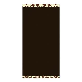 Inspiring Brown Paisley Pattern Photo Cards