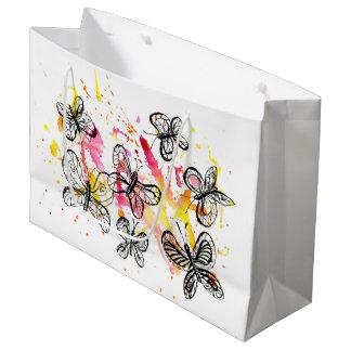 Inspiring butterflies large gift bag