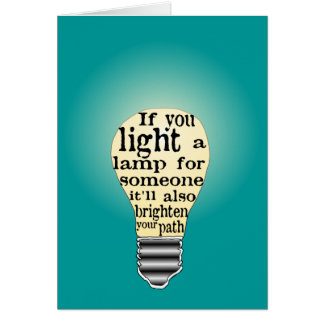 Inspiring Care Giving Quote Card