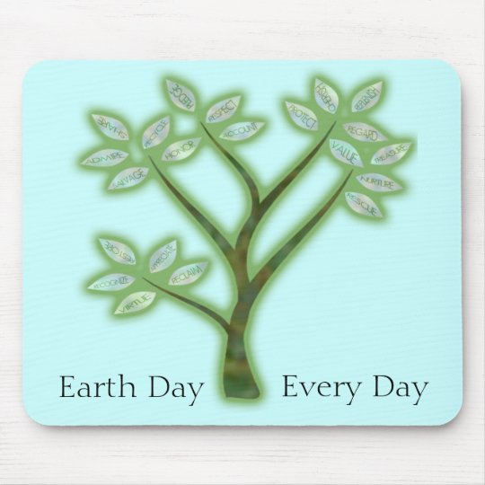 Inspiring Earth Day Tree Mouse Mat
