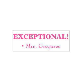 "Inspiring ""EXCEPTIONAL!"" + Custom Teacher Name Self-inking Stamp"