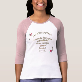 """Inspiring Floral """"Wearable Words"""" Literary Floral T-Shirt"""