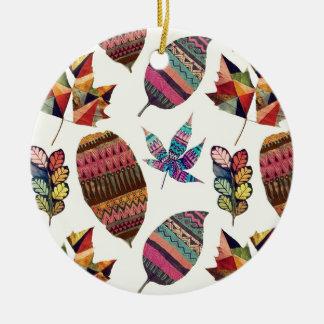 Inspiring Flowers Round Ceramic Decoration