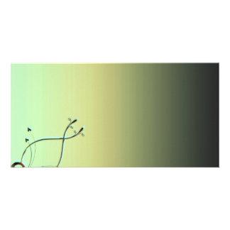 Inspiring Greenish swirls Customized Photo Card