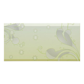 Inspiring greenish swirls special gift picture card