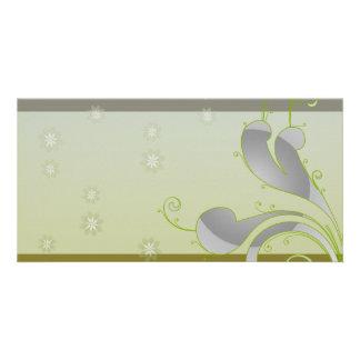 Inspiring greenish swirls special gift photo greeting card
