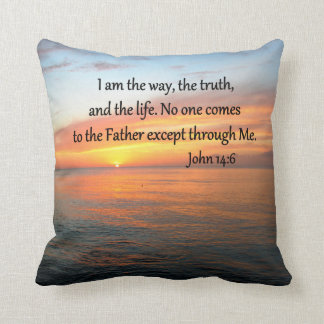 INSPIRING JOHN 14:6 SUNRISE PHOTO DESIGN THROW PILLOW