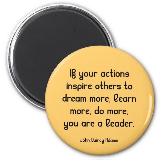 inspiring leadership quote magnet
