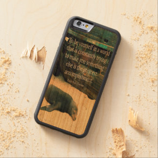 Inspiring Life quote beach theme Cherry iPhone 6 Bumper