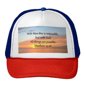INSPIRING MATTHEW 19:26 SUNRISE DESIGN CAP