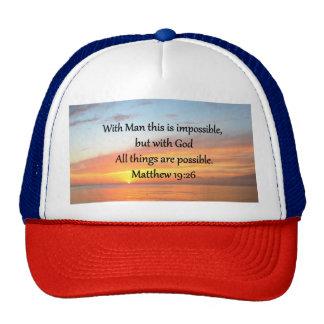 INSPIRING MATTHEW 19:26 SUNRISE DESIGN CAP