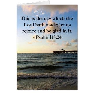 INSPIRING PSALM 118:24 VERSE CARD