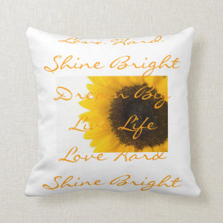 Inspiring Sunflower Word Pillows